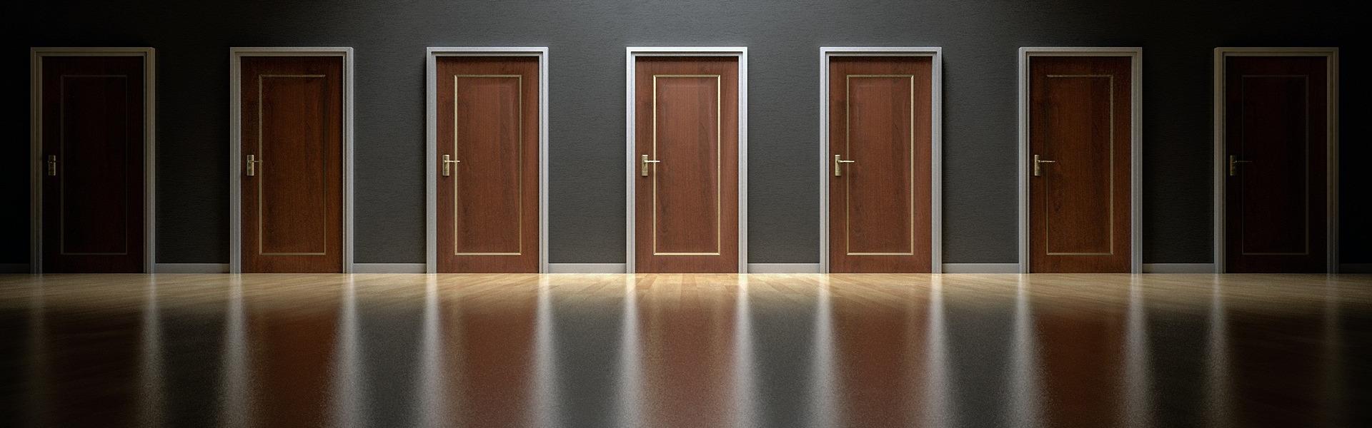 Entscheide Dich für die richtige Tür
